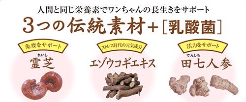 霊芝・ウコギ・田七人参の説明