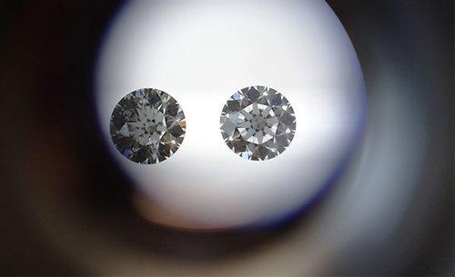 顕微鏡でみたダイアモンド