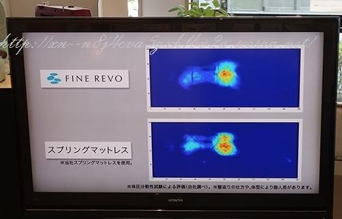ファインレボとポケットコイル体圧分散比較