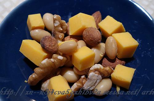 発芽大豆とナッツで簡単おつまみ